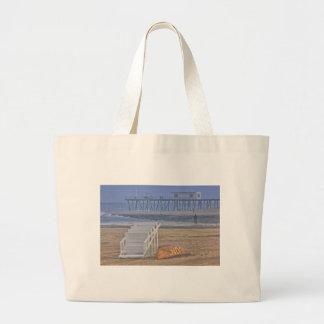 Beach Beaches Lifeguard Chair Boat Oceanview Canvas Bags