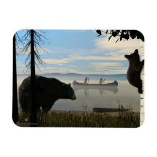 Beach Bears Rectangular Photo Magnet