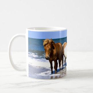 Beach Beauties Horses coffee Cup or Mug
