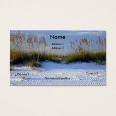 Beach Beauty Business Card at Zazzle