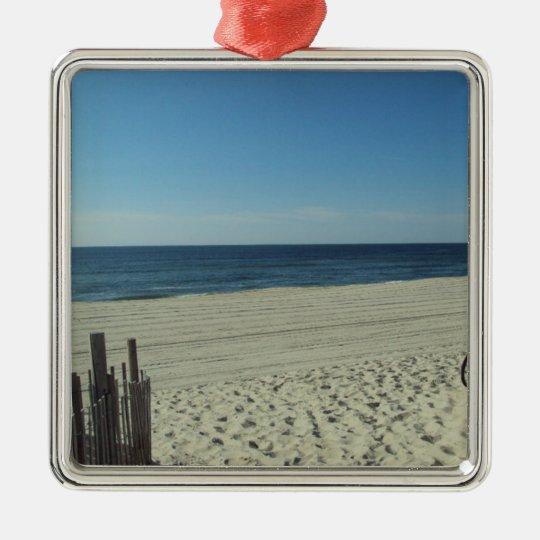 Beach Beauty Metal Ornament
