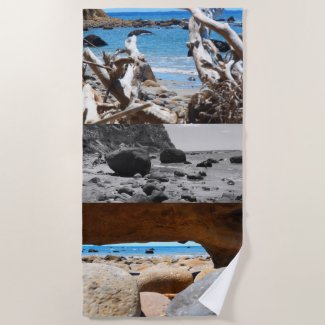 beach beauty new zealand beach towel