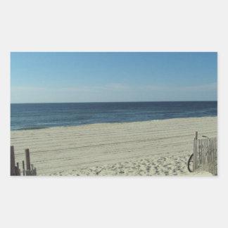 Beach Beauty Rectangular Sticker