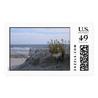 beach behind the dunes stamp