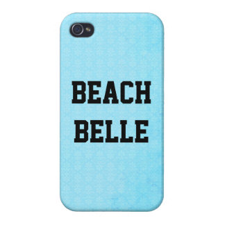 Beach Belle: Neon Blue Grunge Print iPhone 4 Case