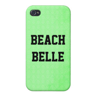 Beach Belle: Neon Lime Grunge Print iPhone 4 Case
