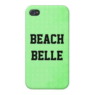 Beach Belle: Neon Lime Grunge Print iPhone 4 Case