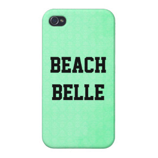 Beach Belle: Neon Teal Grunge Print iPhone 4 Case