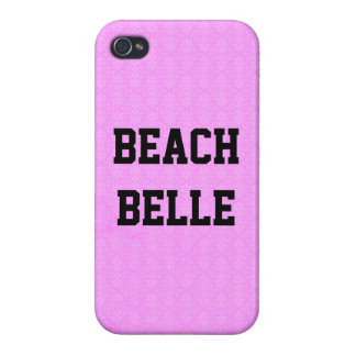 Beach Belle: Sun Violet Grunge Print iPhone 4 Case