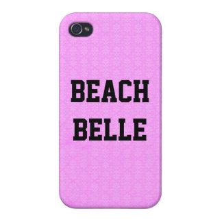 Beach Belle: Sun Violet Grunge Print iPhone 4 Case