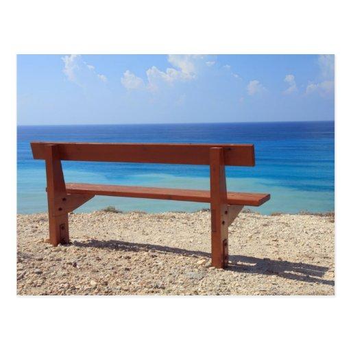 Beach Bench Postcard Zazzle