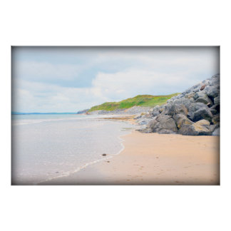 beach beside the links golf course poster
