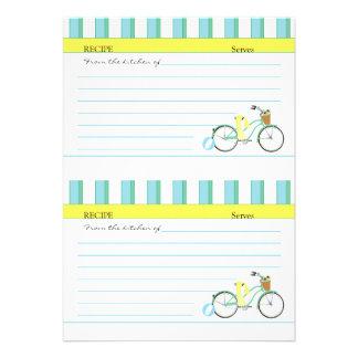Beach Bicycle Cards Custom Invite