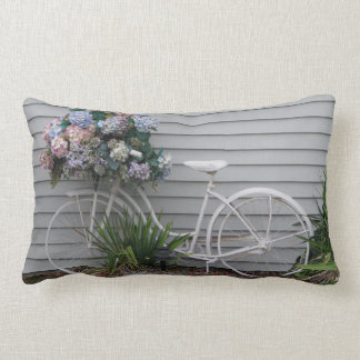 Beach Bicycle Lumbar Pillow