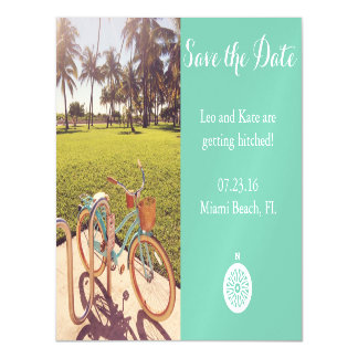 Beach Bicycle Save The Date Magnet Magnetic Card