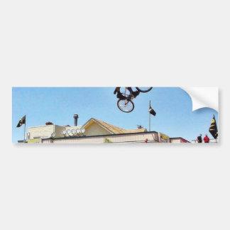 Beach Bike Jumping Bumper Stickers