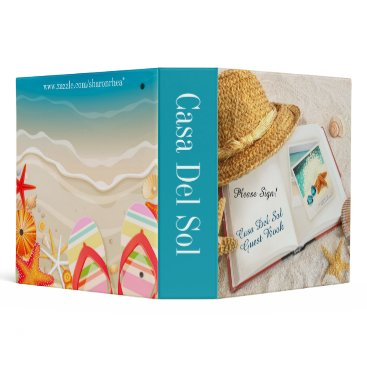 Beach Themed Beach Binder - Guest Book - Notebook