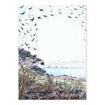 Beach Birds Artwork Personalized Invitation