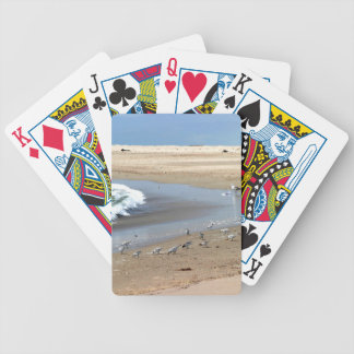 Beach Birds Bicycle Playing Cards