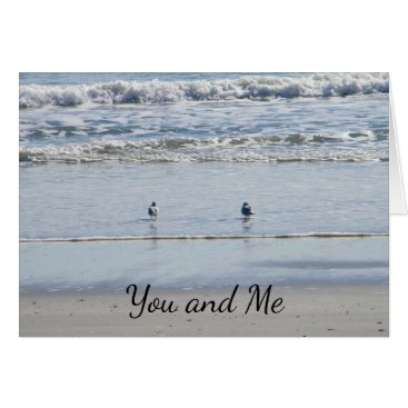 friendshipandfun BEACH BIRDS SAY YOU AND ME FOR ETERNITY CARD