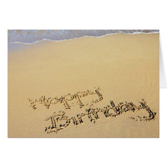 Beach Birthday Card