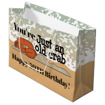 Beach Birthday crab add message and age bag