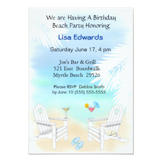 Beach Birthday Invitation