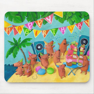 Beach Birthday Party Mouse Pad