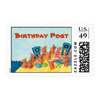 Beach Birthday Party Stamps