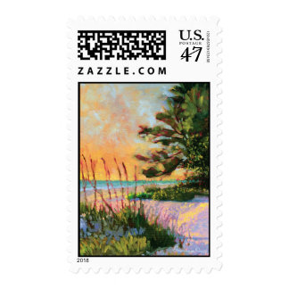 Beach Bistro postage stamp
