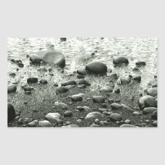 Beach Black Sand Rectangular Sticker