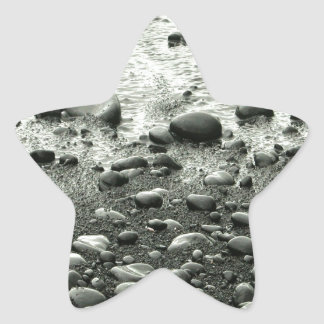 Beach Black Sand Star Sticker