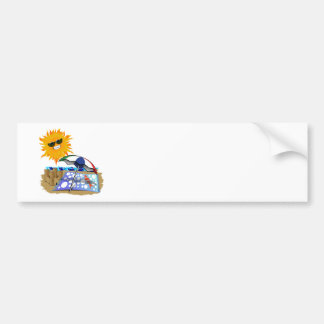 Beach Blanket And Sun Bumper Stickers