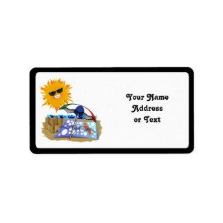 Beach Blanket And Sun Custom Address Labels