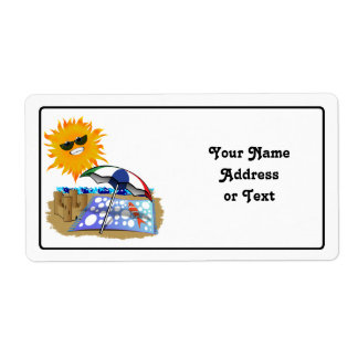 Beach Blanket And Sun Custom Shipping Labels