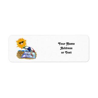 Beach Blanket And Sun Return Address Label