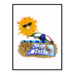 Beach Blanket And Sun Postcard