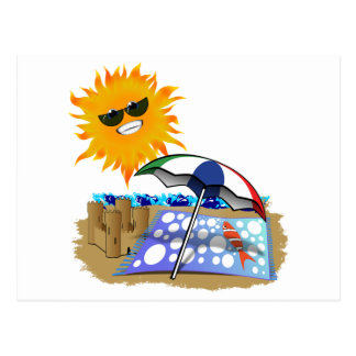 Beach Blanket And Sun Postcards