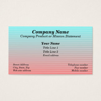 Beach Blanket - Aqua/Red Business Card