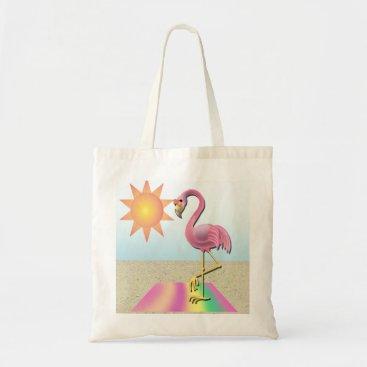 Beach Themed Beach Blanket Flamingo Tote Bag