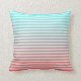 Beach Blanket Teal/Peach Throw Pillow