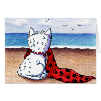 Beach Blanket Westie Card