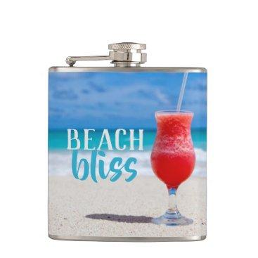 Beach Themed Beach Bliss Tropical Cocktail Sandy Beach Flask