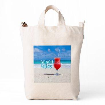 Beach Themed Beach Bliss Tropical Sandy Beach Cocktail Duck Bag