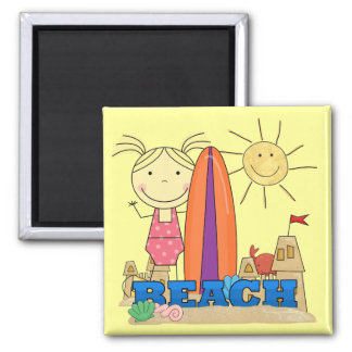BEACH - Blond Girl Tshirts and Gifts Magnet