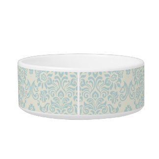 Beach Blue Delicate Floral Swirl Bowl