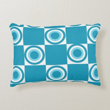 Beach Themed Beach Blue Dots Accent Pillow