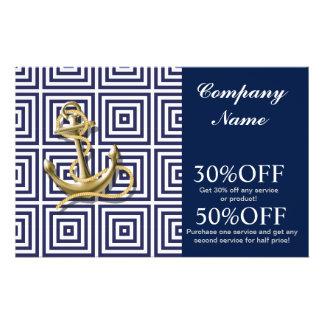 Beach Blue greek pattern preppy nautical Anchor Flyer