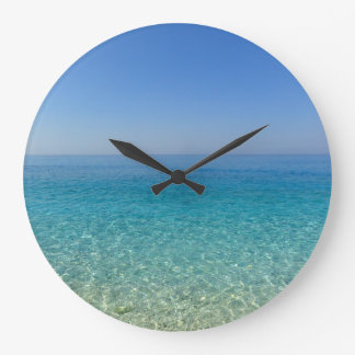 beach blue sea water summer nature texture pattern large clock