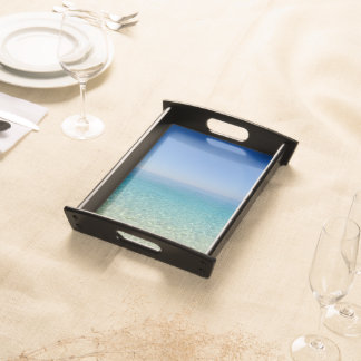 beach blue sea water summer nature texture pattern serving tray